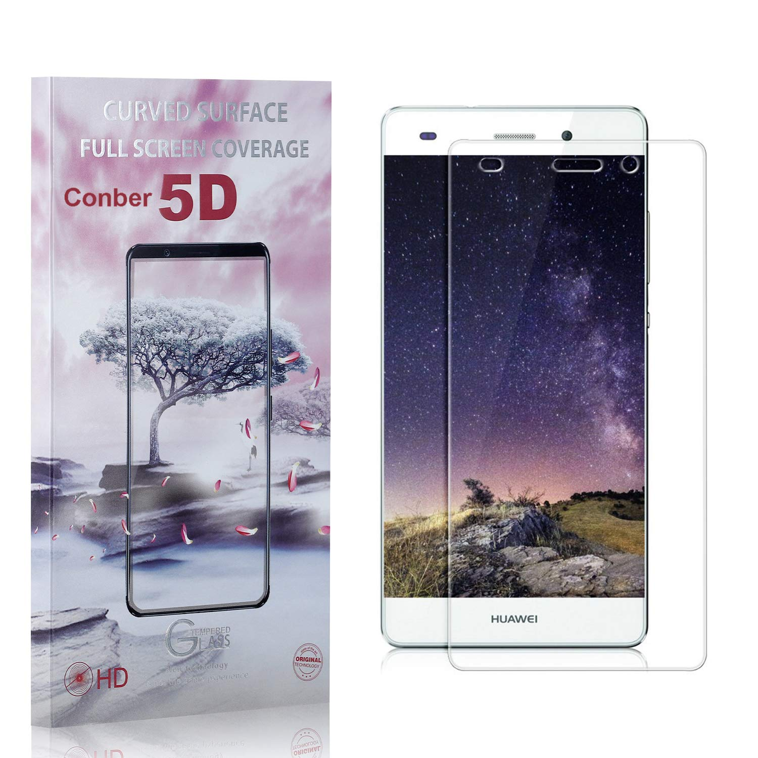Our shop most popular Conber 4 Pack Screen Protector for P8 2015 Mail order Huawe Lite Huawei