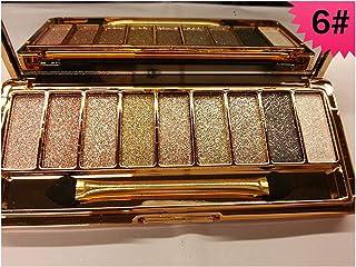 DISAAR BEAUTY 9 Colors Glitter Eyeshadow Eye Shadow Palette & Makeup Cosmetic Brush Set NEW (#06)