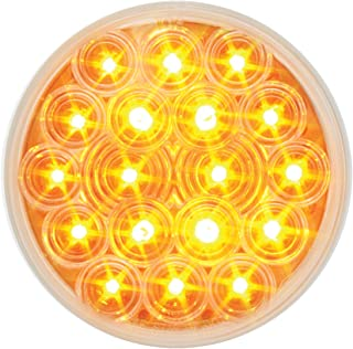 for Truck//SUV//RV//Vehicle//Trailer Grand General 77622 Amber//Clear 4.5 Pearl Square Double Face LED Pedestal Light