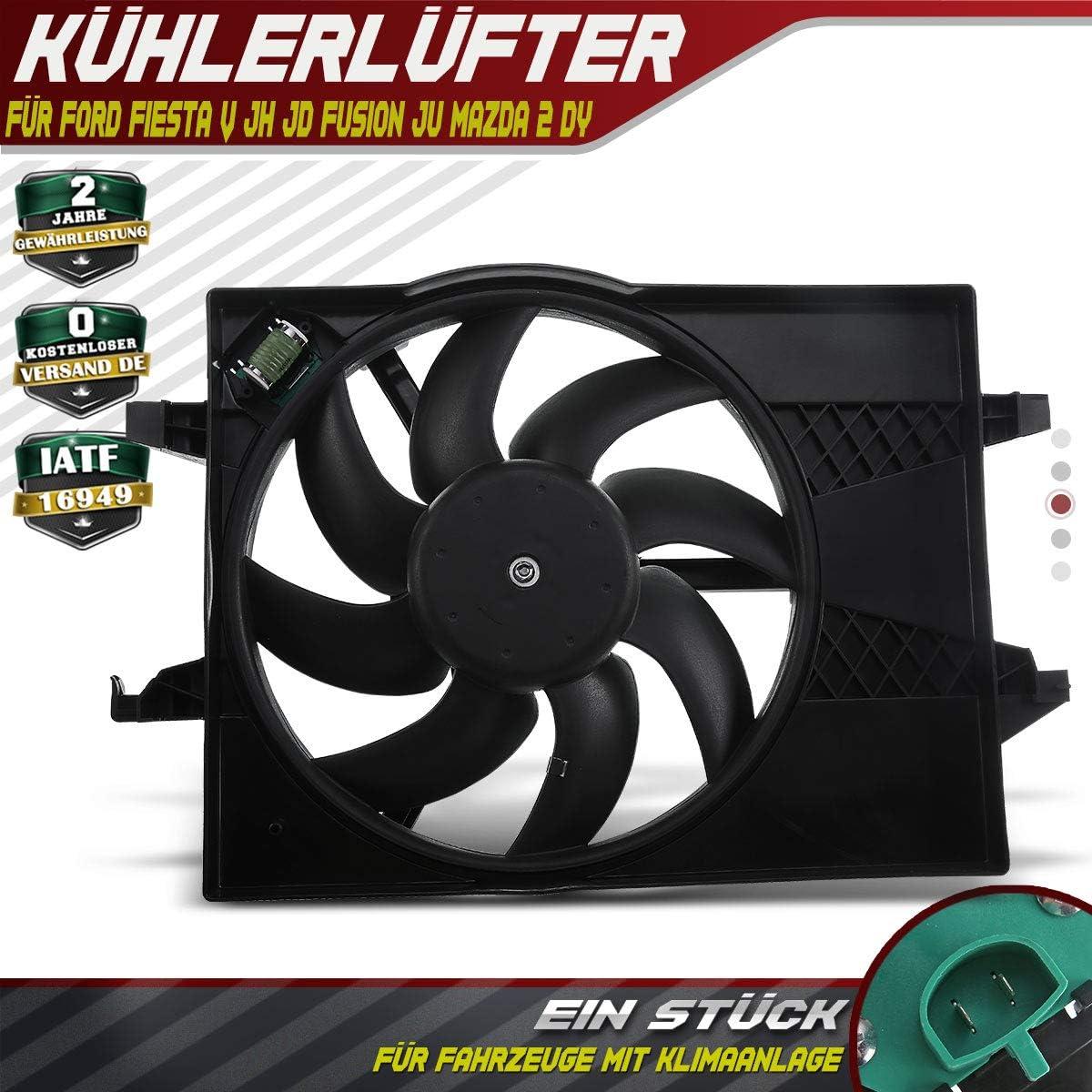 Ventilador de refrigeración del motor de 2 polos 250 W para 2 DY Fiesta V JH JD Fusion JU 2001-2012 1495676