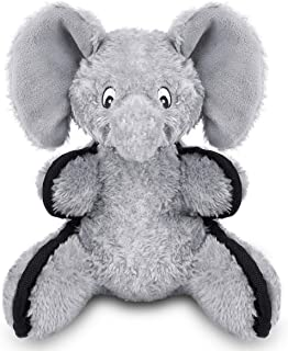 oneisall Plush Stuffed Dog Toys - Interactive Pet Chew Toys for Small Medium Dogs Animal,Elephant