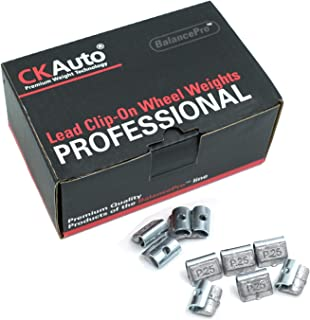 CK Auto P Style 1/4oz, 0.25oz Lead Clip on Wheel Weights, Uncoated, 50Pcs/Box
