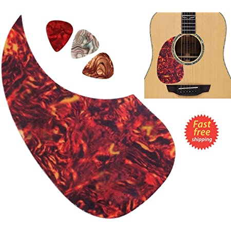 Fafeims Guitar Pick Guards,Left Hand Plastic Pick Guard Stickers Folk Guitar Parts Musical Instrument Accessories for Left Hand Guitar Lovers