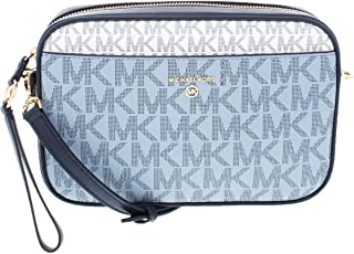 MICHAEL Michael Kors Jet Set Charm Large East/West Camera Crossbody Navy Multi One Size