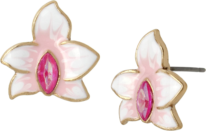 Betsey Johnson Orchid Stud Earrings