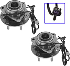 Front Wheel Hub & Bearing Pair Set for Trailblazer Envoy w/ABS 6 Lug