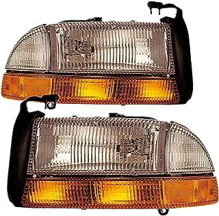 For Dodge Dakota Durango Headlight 1997 1998 1999 2000 2001 2002 2003 2004 Driver and Passenger Side Headlamp Assembly Replacement