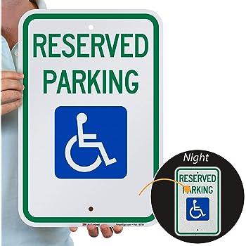 12x18 080 Aluminum R7-8 Federal Handicap Parking Sign