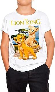 Camiseta Cine Niño - Unisex El Rey León, Simba y Nala