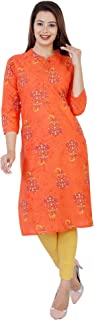 FASHION CLOUD Jaipuri Printed Cotton Kurtis for Women