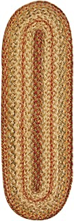 Homespice Oval Table Runner Jute Braided Rugs, 11-Inch by 36-Inch, Harvest