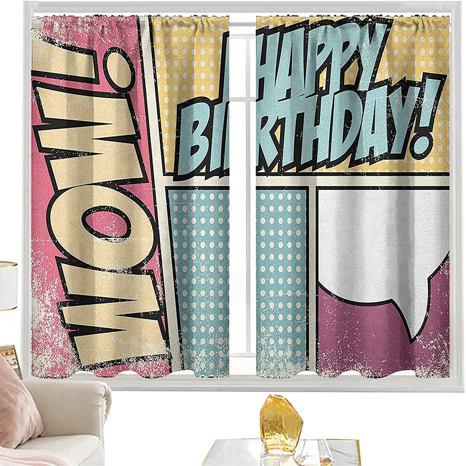 Curtains for Bedroom Comic Book Style Ene Store Pop Effect Free Shipping Cheap Bargain Gift Art Grunge