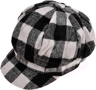 ZLYC Womens Classic Newsboy Caps Visor 8 Panel Gatsby Apple Cabbie Hat a917dead981c