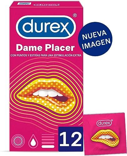 Durex Preservativos Dame Placer con Puntos y Estrías - 12 condones