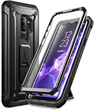 SUPCASE Kickstand Rugged Case for Galaxy S9 Plus, with Built-in Screen Protector Shockproof Cover for Samsung Galaxy S9 Plus 6.2 inch 2018 Release (Black)