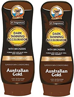 2 Pack Dark Tanning Accelerator Lotion with Bronzer