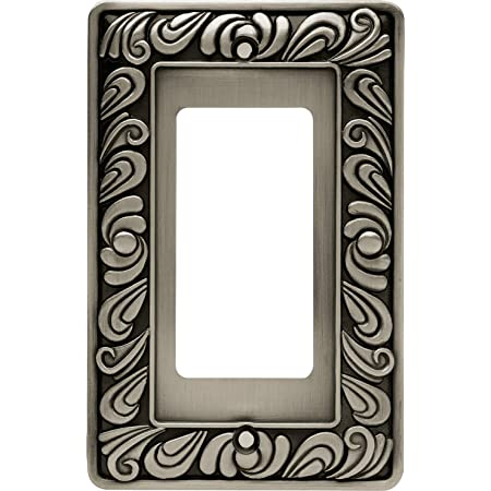 Amazon Com Franklin Brass 64046 Paisley Single Decorator Wall Plate Switch Plate Cover Brushed Satin Pewter Home Improvement