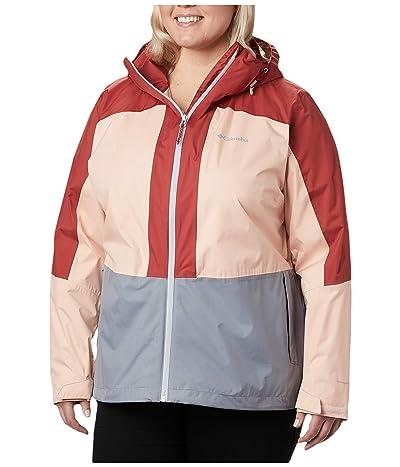 Columbia Plus Size Windgatestm Jacket (Tradewinds Grey/Peach Cloud/Dusty Crimson) Women