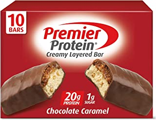 Premier Protein 20g Protein bar, Chocolate Caramel, 2.08 Oz, (10Count), 10 Pack