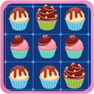 Cup Cake Match-3 Game - Matching-3 Game: Connect Colorful Lines of Cupcake to Solve Hard Levels in this Puzzle Adventure Game