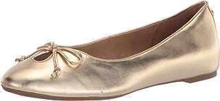 حذاء باليه مسطح للسيدات من Anne Klein لون ذهبي، 9. 5