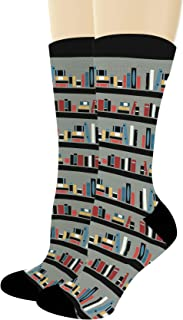Bookworm Gifts Library Socks Book Socks Nerdy Socks Reading Gifts for Librarians Novelty Crew Socks