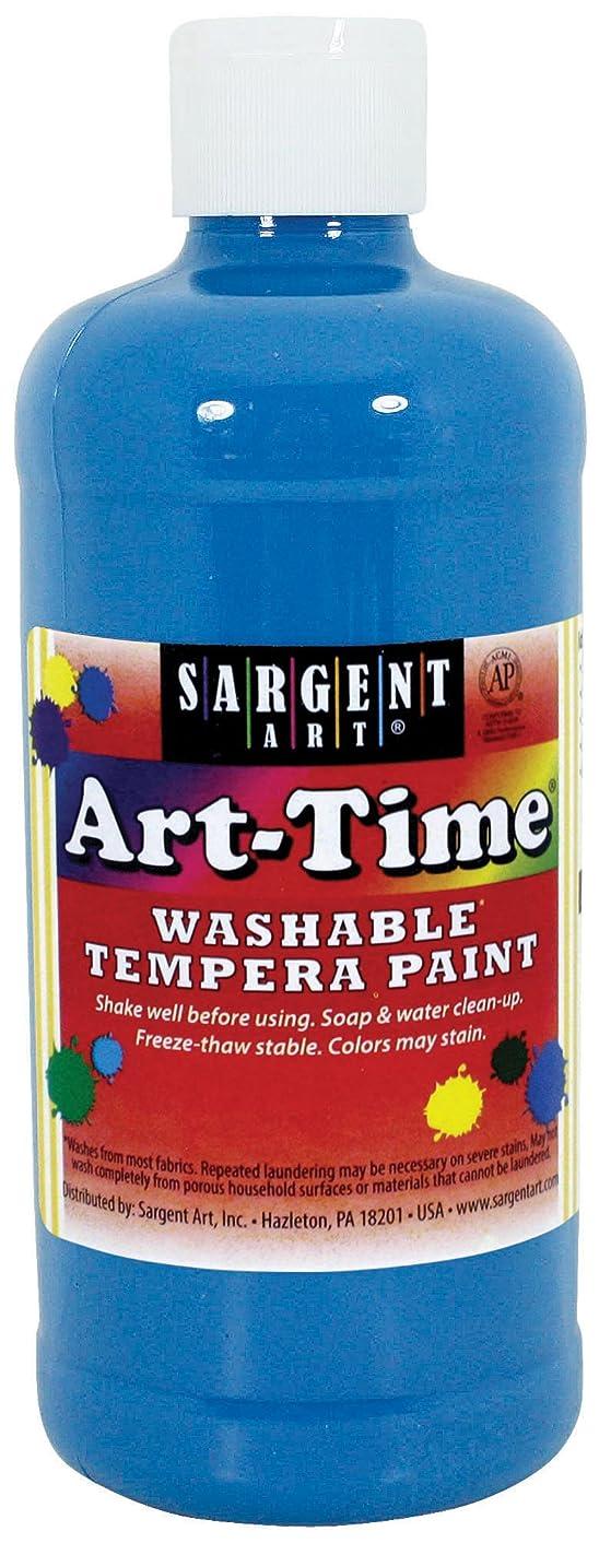 Sargent Art 17-3461 16 oz Turquoise Art-Time Washable Tempera Paint