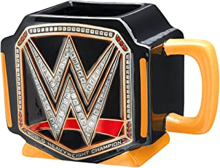 Silver Buffalo WE9995 WWE Championship Title Belt Jumbo Ceramic Mug, 20 oz, Multicolor