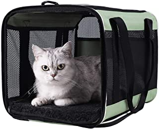 Top Load Pet Carrier for Large, Medium Cats, 2 Cats and Small Dogs with Comfy Bed. Easy to Get Cat in, Escape Proof, Easy ...