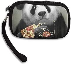 Panda Loves Pizza Coin Pouch Clutch Purse Wristlet Wallet Phone Card Holder Handbag