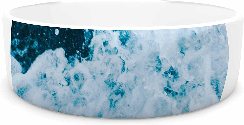 KESS InHouse Chelsea Victoria The Sea Nautical bluee Pet Bowl, 7
