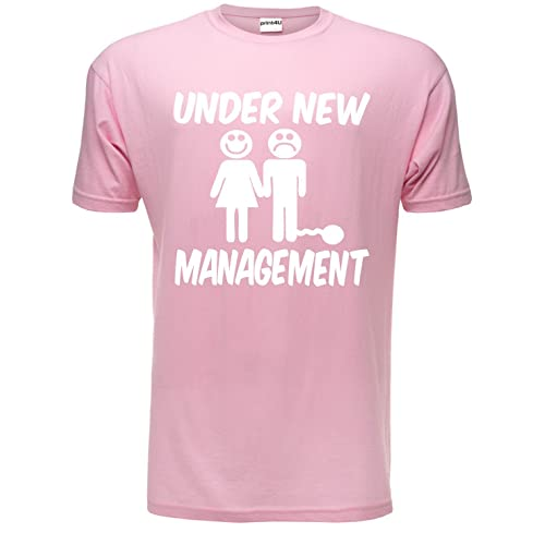 aff5ffe4 Under New Management Funny Stag Do Stag Night Wedding Mens T-Shirt Size S-
