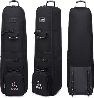 کیف کیف مسافرتی گلف یک طرفه Softsea با چرخ ، حاوی قفل گمرکی TSA ، ضد آب مقاوم در برابر سایش پلی استر ضد آب - 50 13 13.5 13 13.5 اینچ ، سیاه