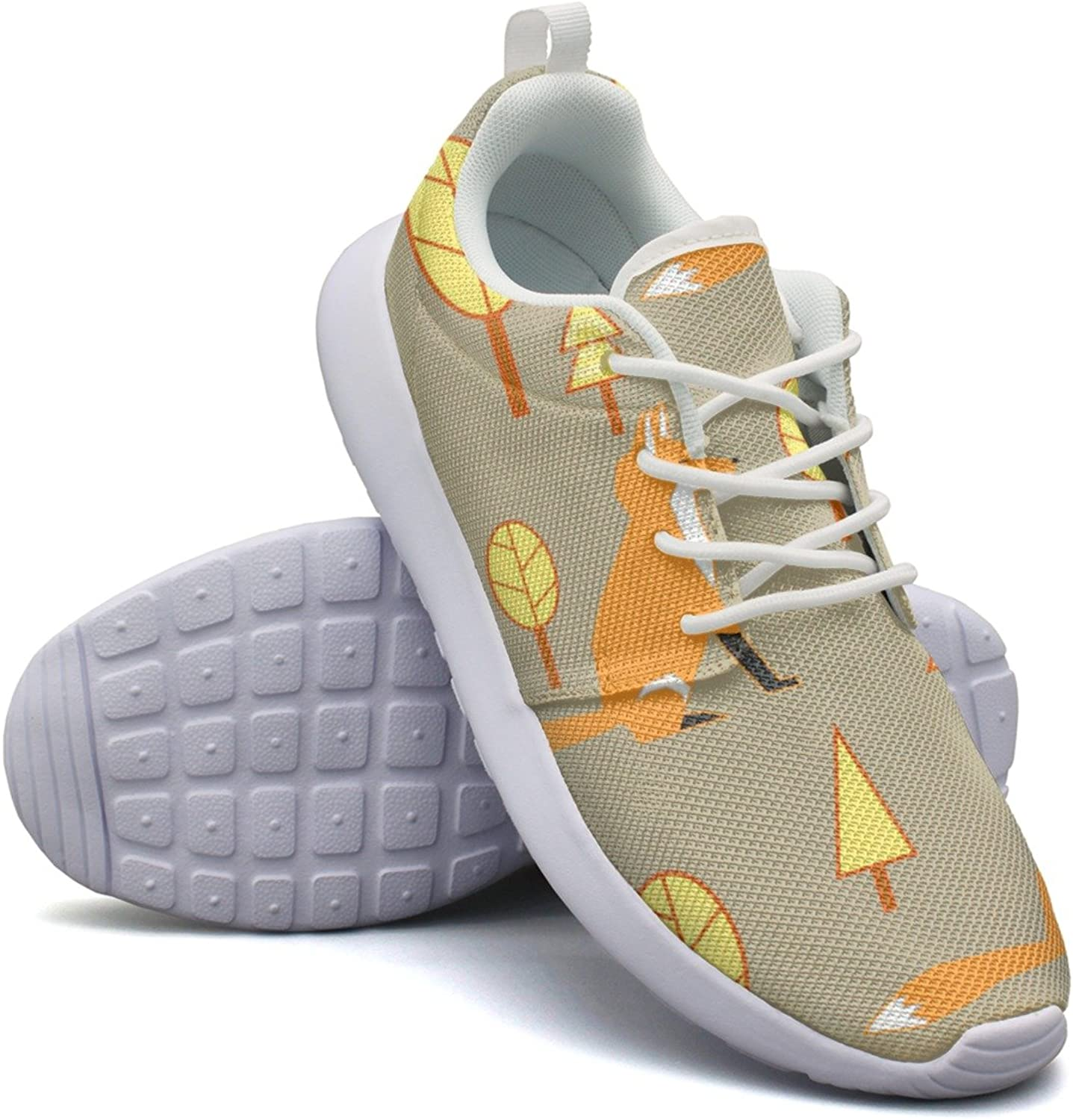 Awesome Fox Pattern Womans Top Casual Running shoes Novelty Cute