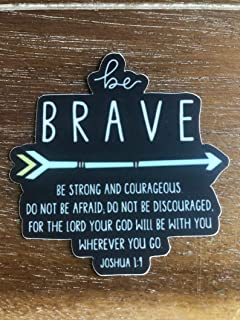 Be brave sticker for a hydro flask or laptop, trendy aesthetic vinyl waterproof stickers, sticker pack - Christian sticker