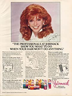 Victoria Principal for Jhirmack Hair Products ad 1983