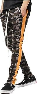 RkBaoye Mens Stitch Pockets Strappy Mid Waist Camo Oversized Jogging Pants
