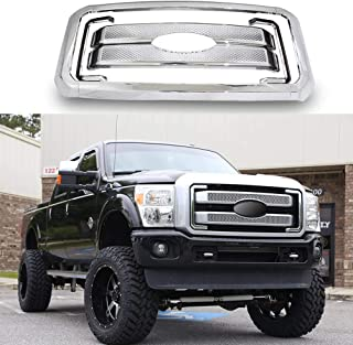 YOUNGERCAR Chrome Grill Cover Compatible with 2011-2016 Ford F-250 F-350 F-450 F-550 Super Duty Front Bumper Hood Grill Cover 8pcs-Cover Only