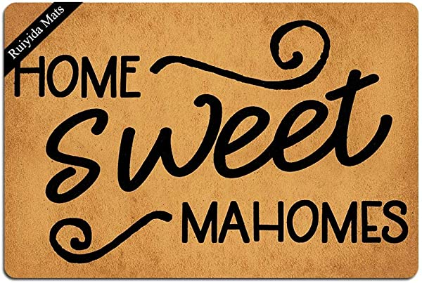 Ruiyida Home Sweet Mahomes Doormat Custom Home Living Decor Housewares Rugs And Mats State Indoor Gift Ideas 23 6 By 15 7 Inch Machine Washable Fabric Top