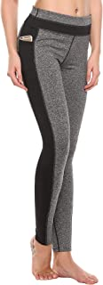 COOrunWomen's Compression Flexible Leggings Fitted Sports Yoga Pants with Pocket XS-XL