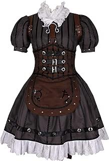 Women's Alice Steam Maid Dress Halloween Cosplay Costume