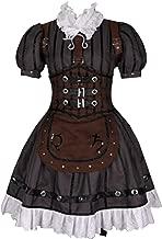 ZYHCOS Women's Alice Steam Maid Dress Halloween Cosplay Costume