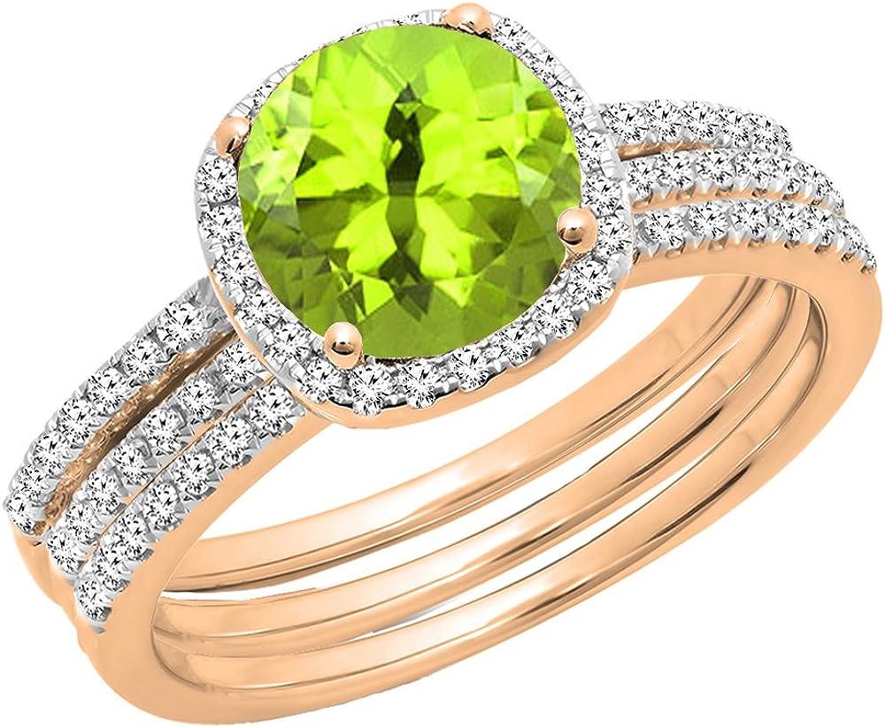 High quality new Dazzlingrock Collection 10K 6 MM Diamond Max 65% OFF Round Gemstone Ladies