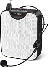 Sponsored Ad - SHIDU Portable Voice Amplifier,Rechargeable Speaker,Supports Recording Funtion and MP3 Format Audio, Mini P...