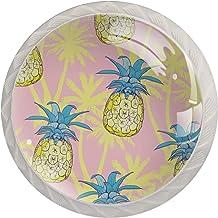 Ananas en Coco | 4 Pack Cabinet Knoppen Lade Knoppen Dressoir Knoppen Moderne Ronde Knoppen voor Dressoir Laden Keukenkast...