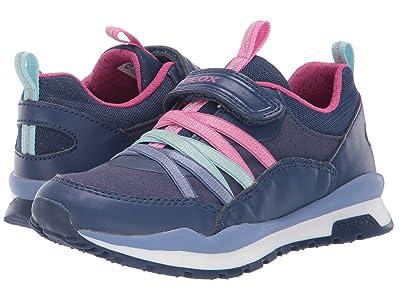 Geox Kids Jr Pavel 6 (Little Kid) (Navy/Pink) Girls Shoes
