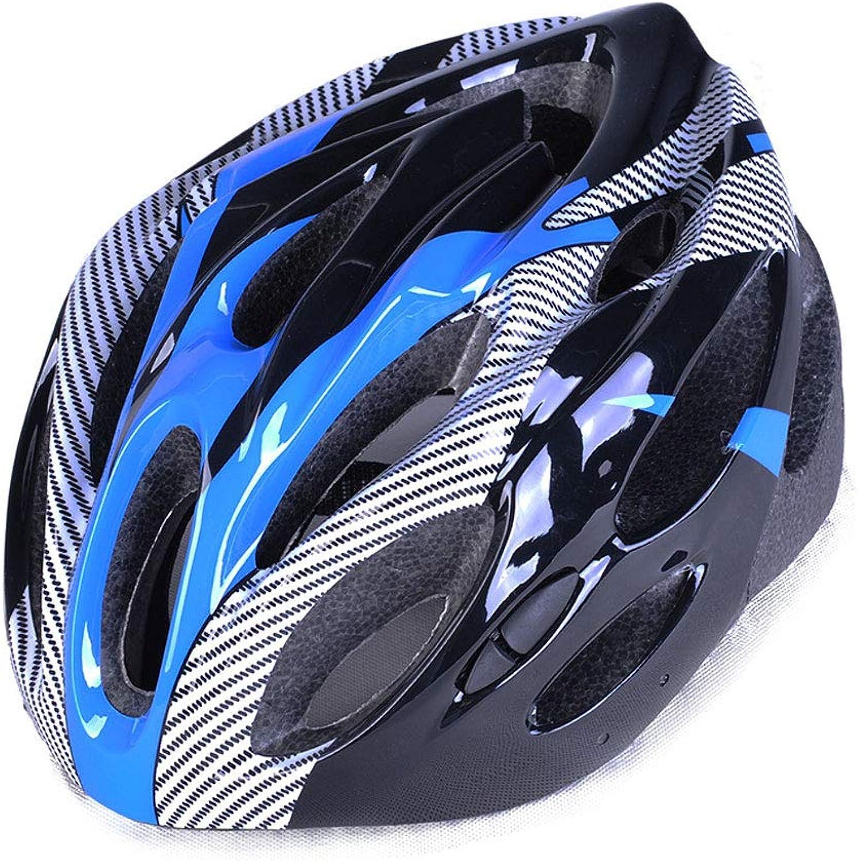 Cycling Helmet,Imitation OnePiece Helmet Men and Women Mountain Road Bicycle Helmet Riding Equipment Helmet Multicolor Optional,blueee