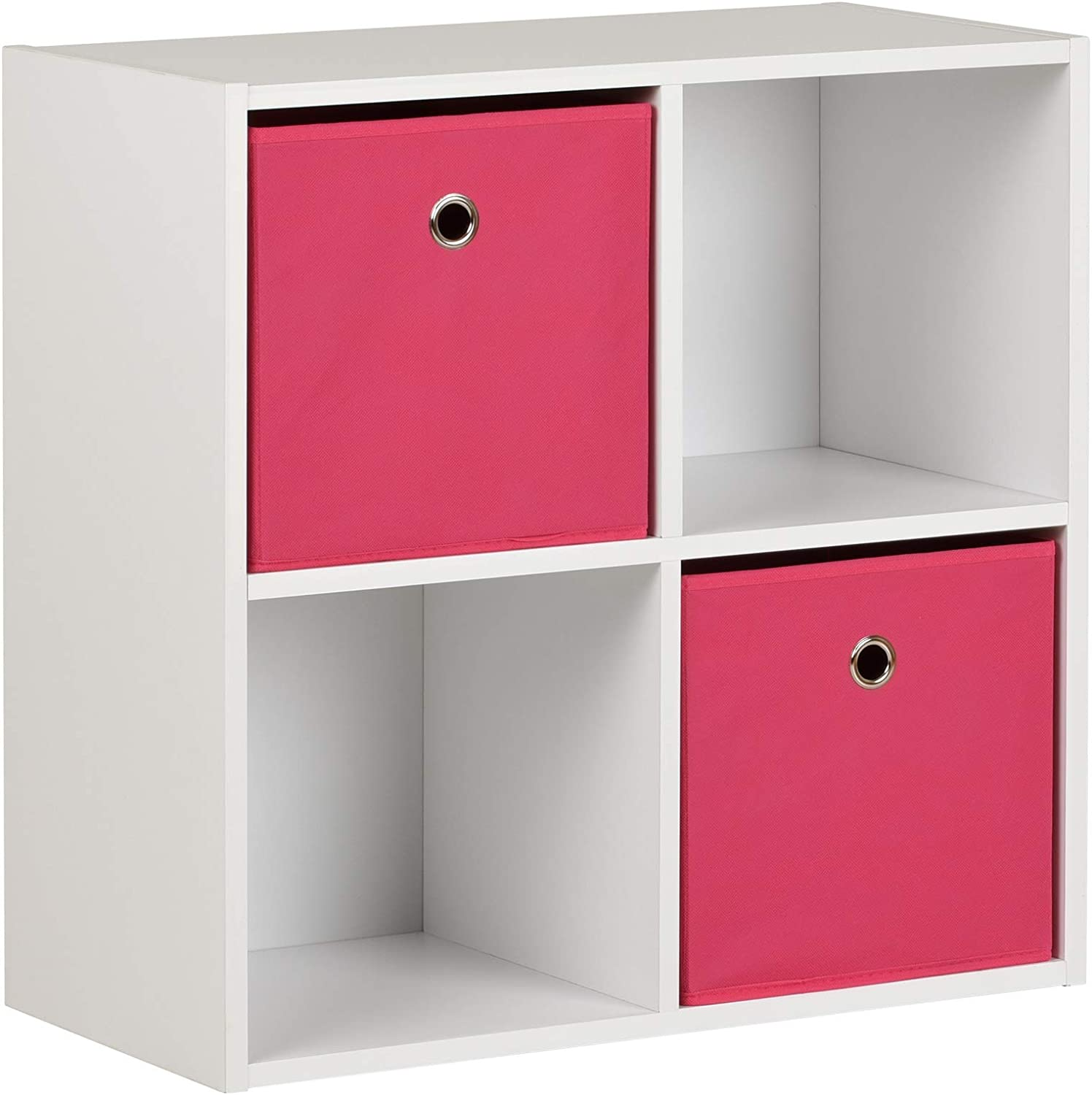 Choice of Colour Hartleys 15mm White 4 Cube Storage Unit and 2 Easy Grasp Box Drawers