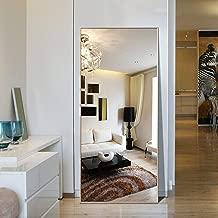 Hans&Alice Rectangle Bedroom Floor Mirror,Free Standing Dressing Mirror, 65