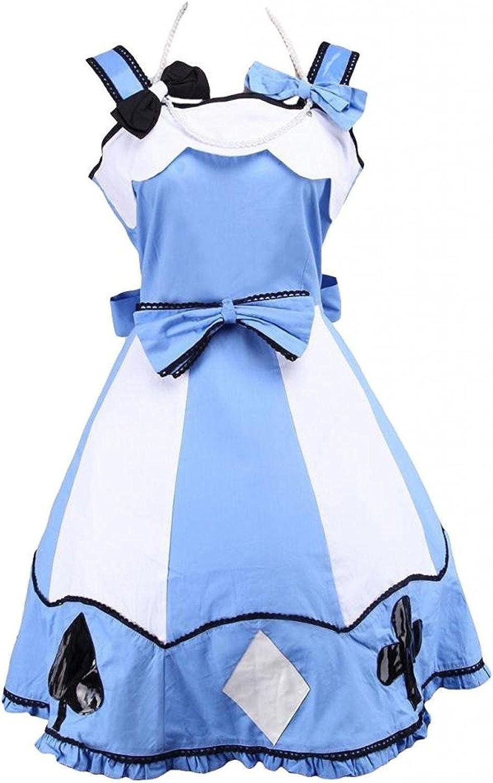 Ainclu Womens White and Light bluee Sweet Style Lolita Dress